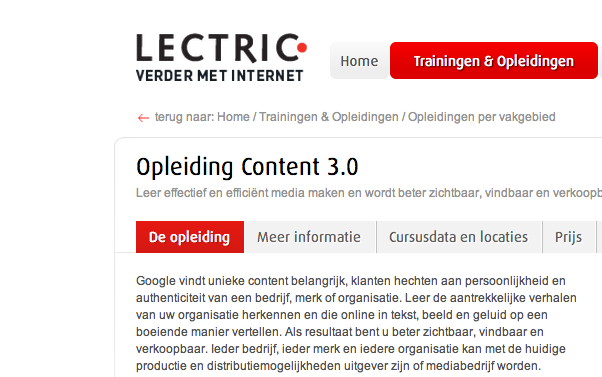 15abcebd8a4 Opleiding Content 3.0 voor Lectric - Fast Moving Targets